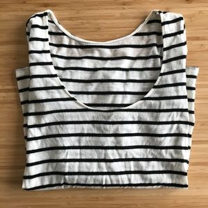 Stripe Wool Top | Club Monaco | Medium